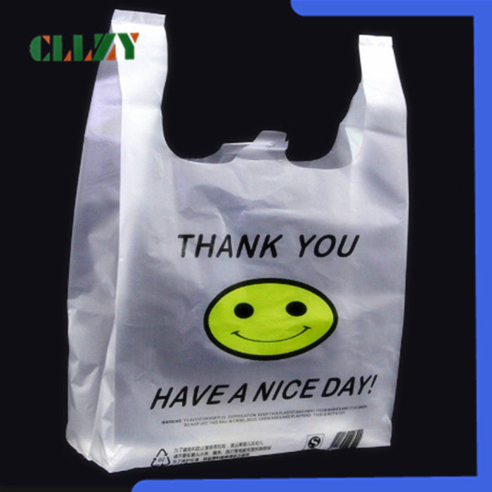 Pure Polylactic Acid Biodegradable Shopping Bags For Hotel / Restaurant